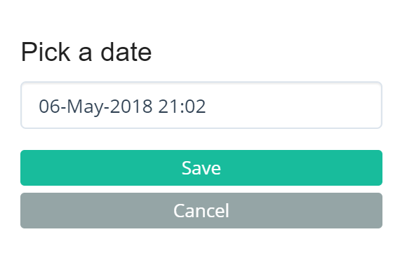 Add a date for completion to any conversation