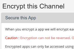Encrypt all messages and attachments in a channel with a custom key
